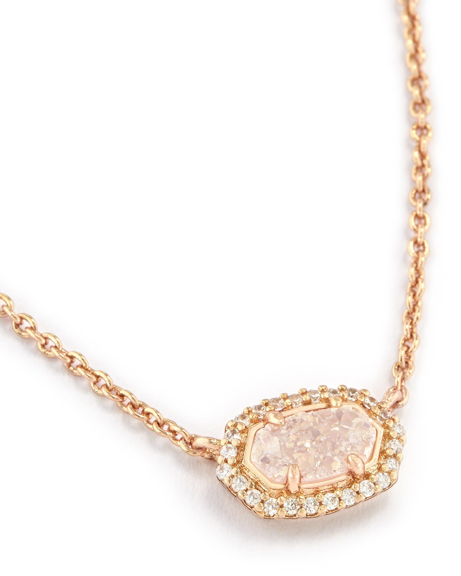 Chelsea Rose Gold Pendant Choker Necklace Kendra Scott