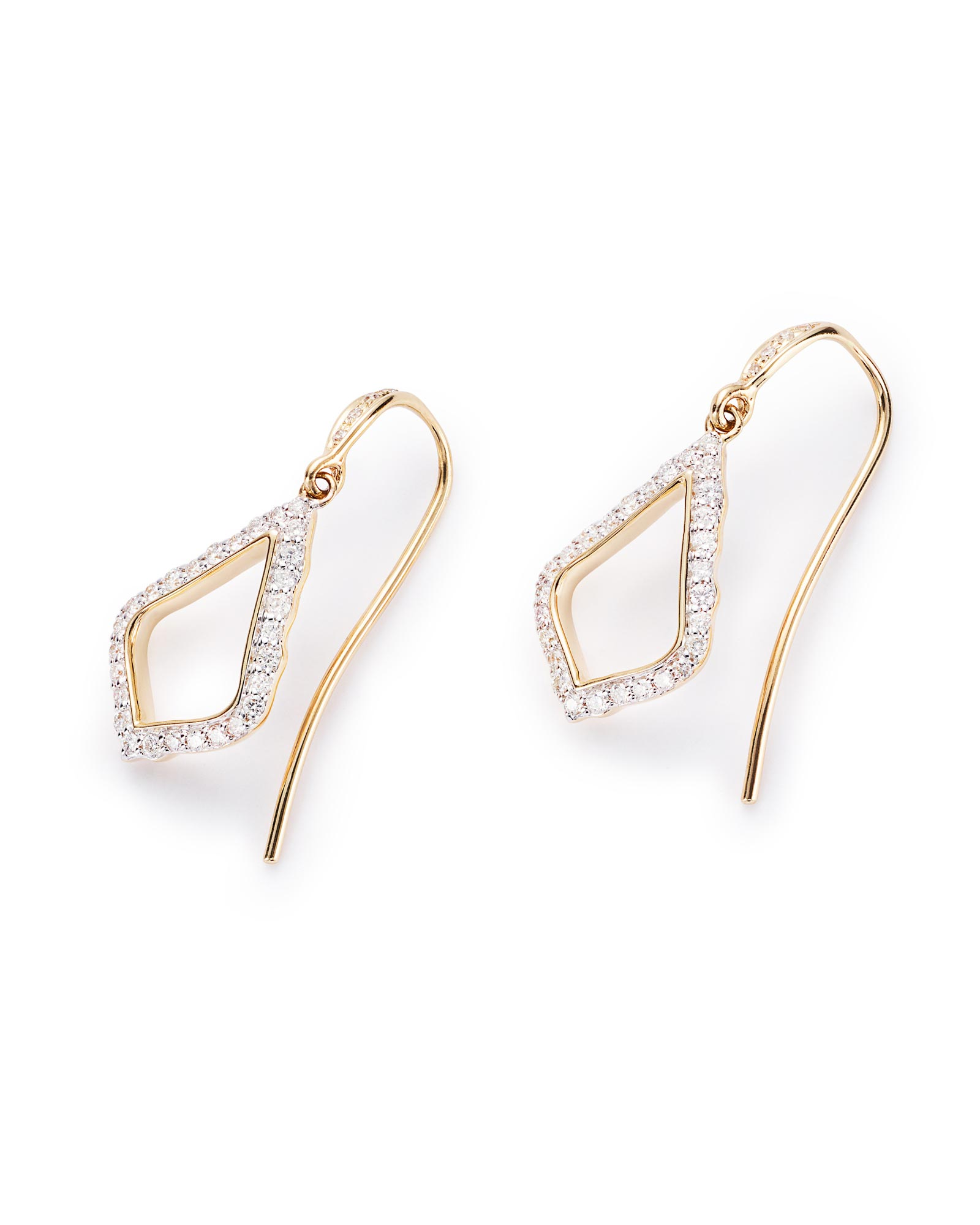 Liliana diamond drop earrings in yellow gold kendra scott for Nancy b fine jewelry