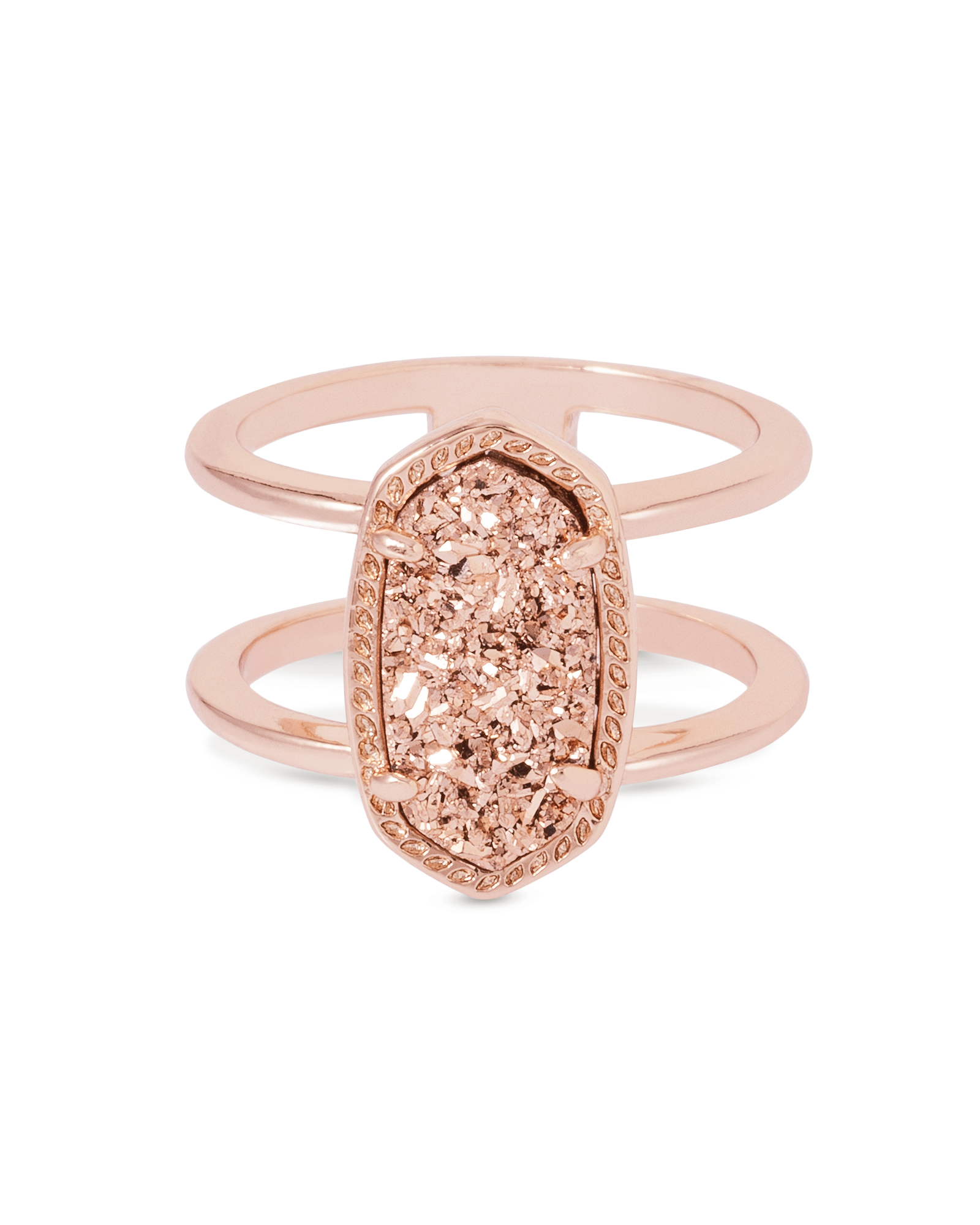 elyse double band ring in rose gold kendra scott jewelry. Black Bedroom Furniture Sets. Home Design Ideas
