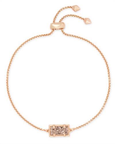 Lee Rose Gold Drop Earrings In Rose Gold Drusy Kendra Scott