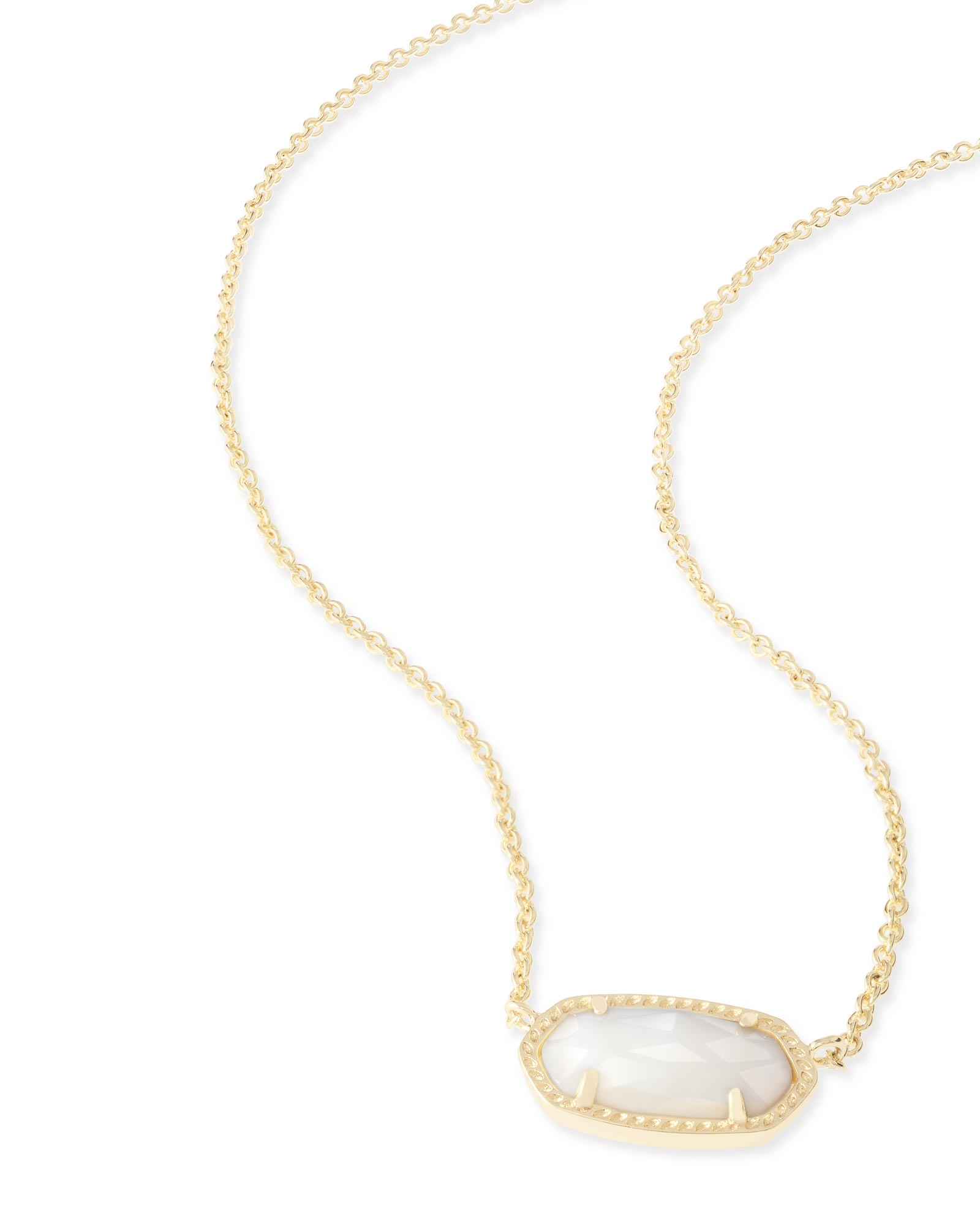 Elisa Gold Pendant Necklace In White Pearl Kendra Scott