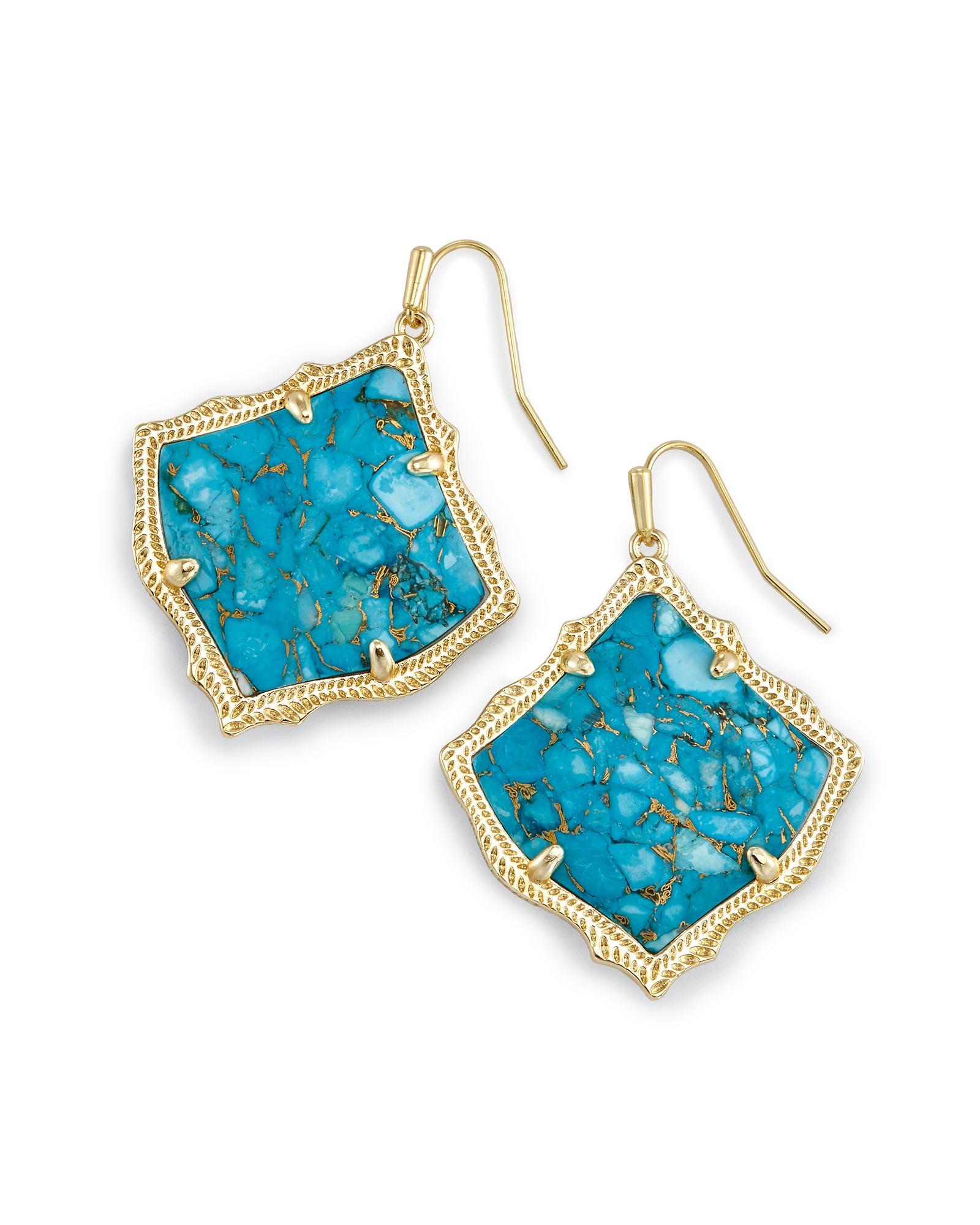 Kirsten Drop Earrings in Turquoise   Kendra Scott Jewelry