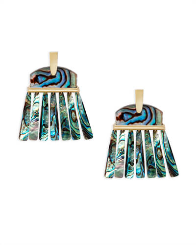 Layne Statement Earrings in Abalone Shell