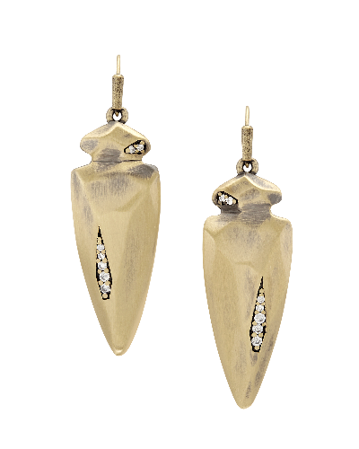 Stephanie Earrings in Antique Brass