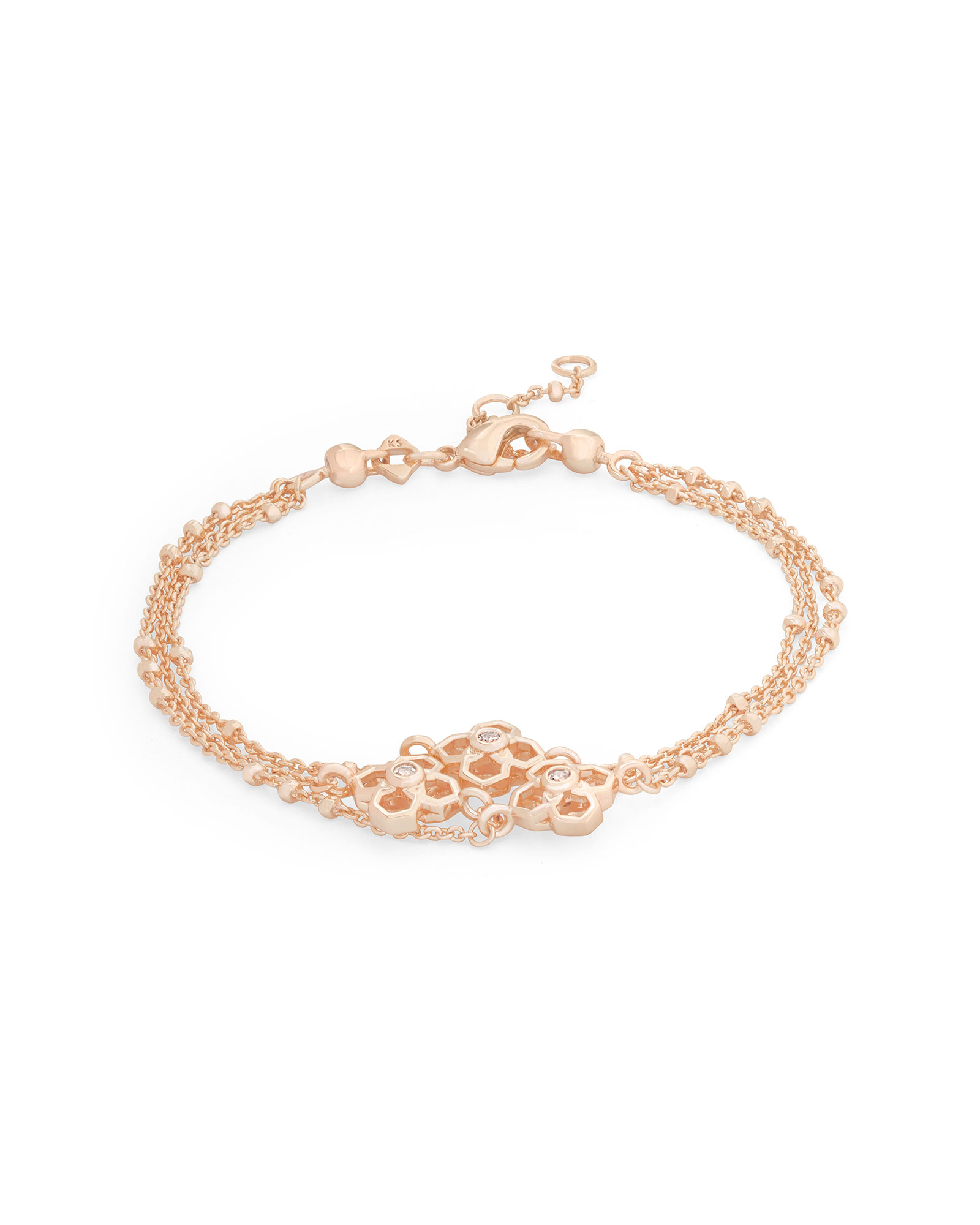 Rue Multi Strand Bracelet In Rose Gold