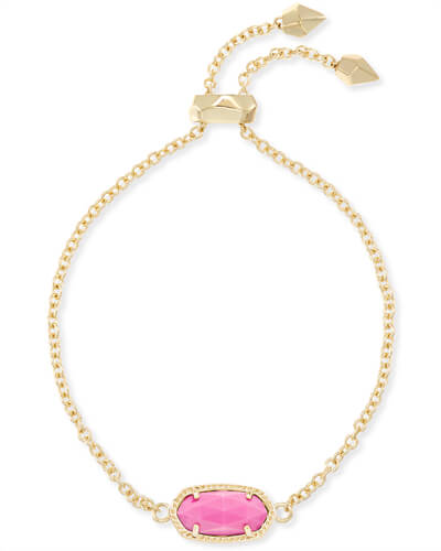 Elaina Gold Chain Bracelet in Magenta
