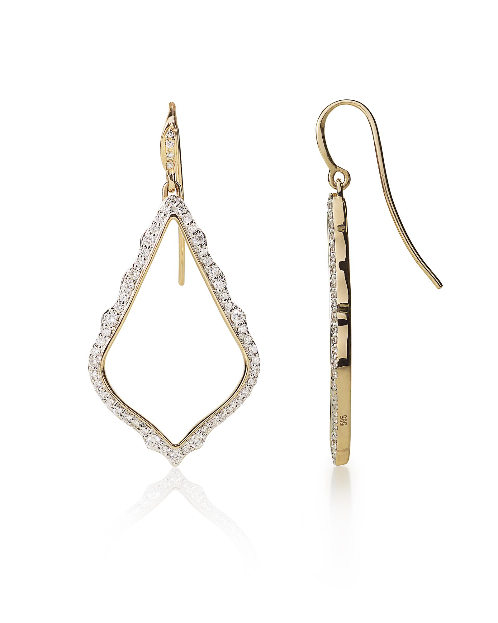 Sophia Pave Diamond Drop Earrings