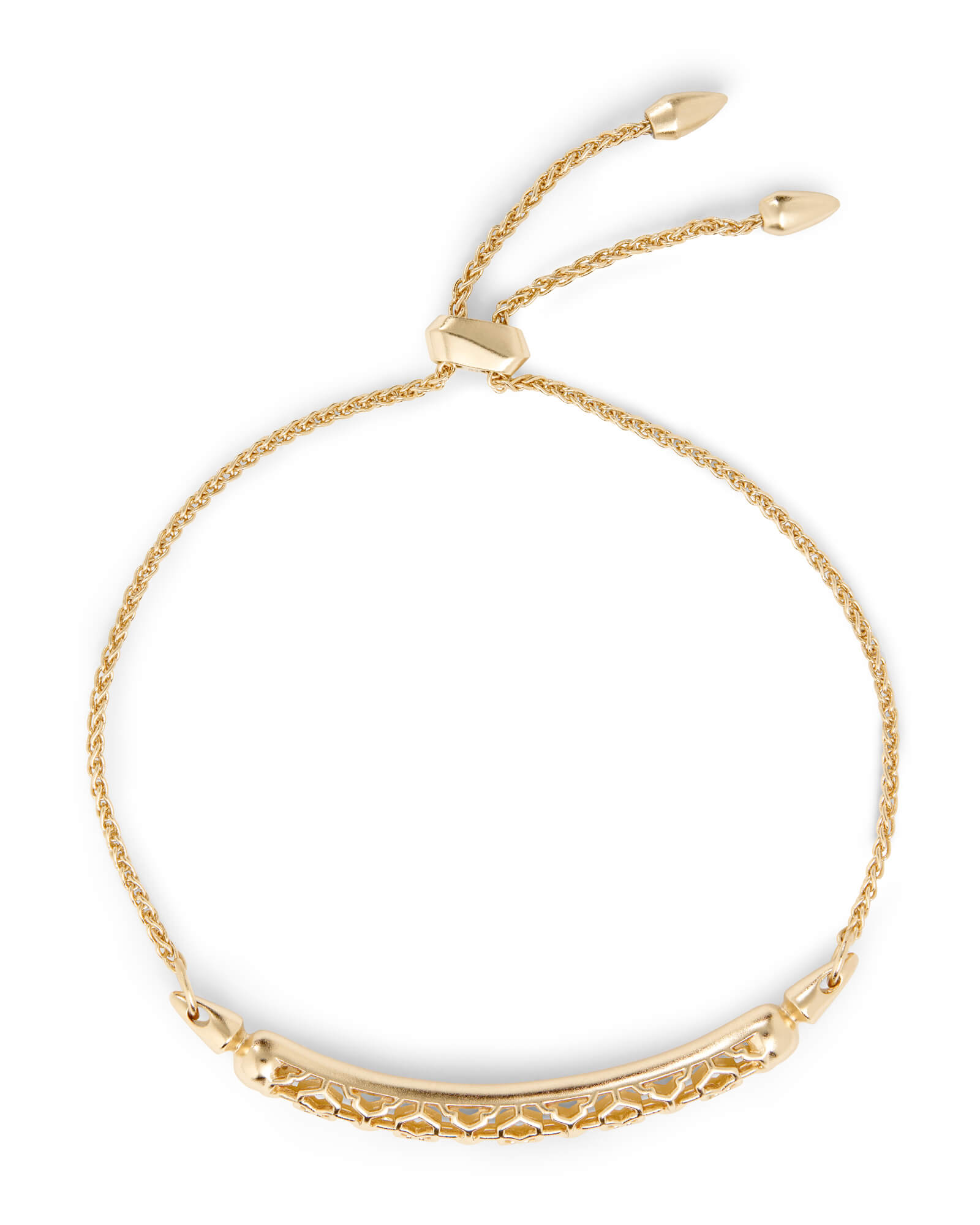 Gilly Gold Link Bracelet in Gold Filigree