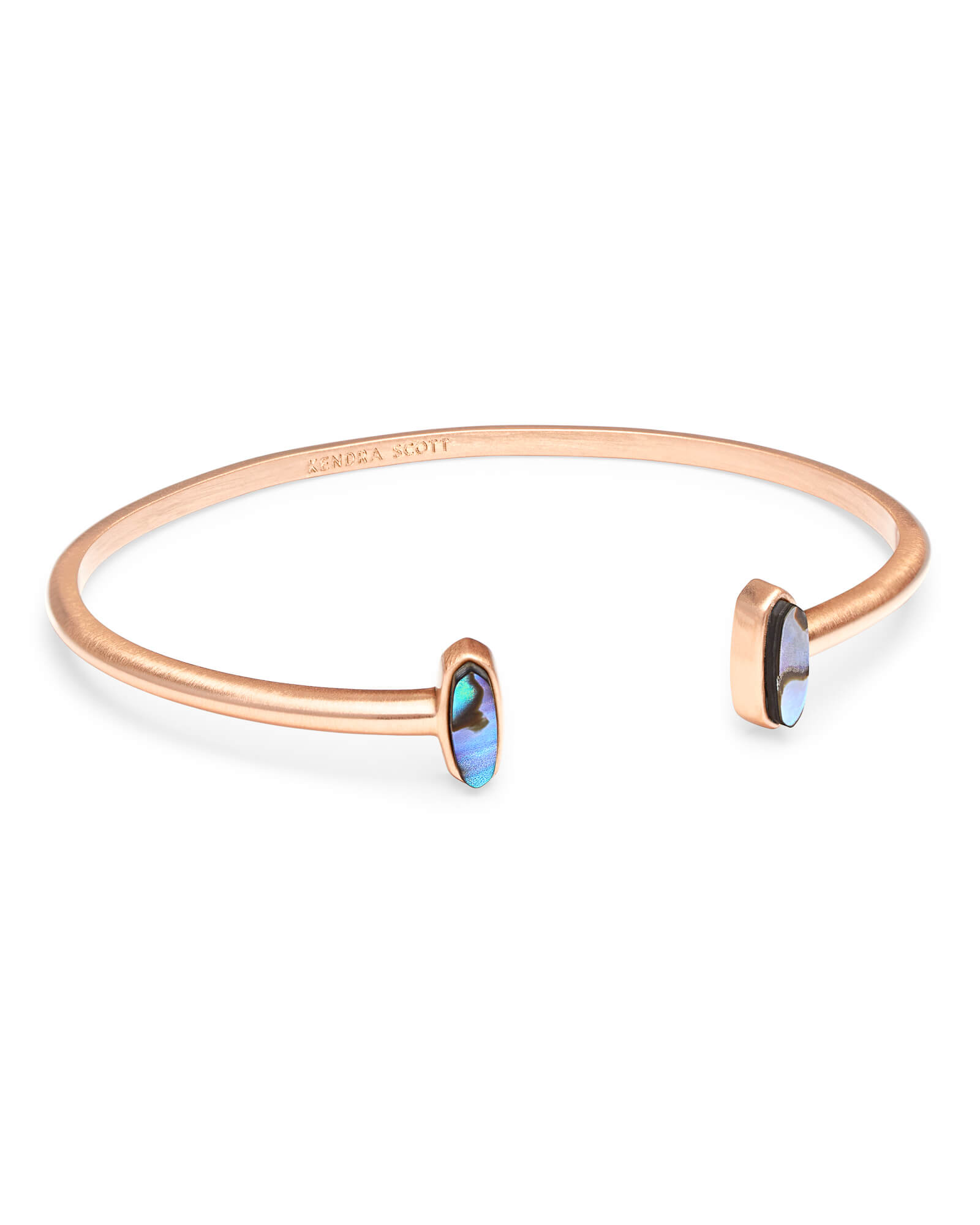 Mavis Rose Gold Cuff Bracelet in Abalone Shell