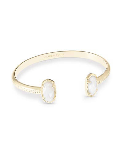 Elton Gold Bracelet in White Pearl