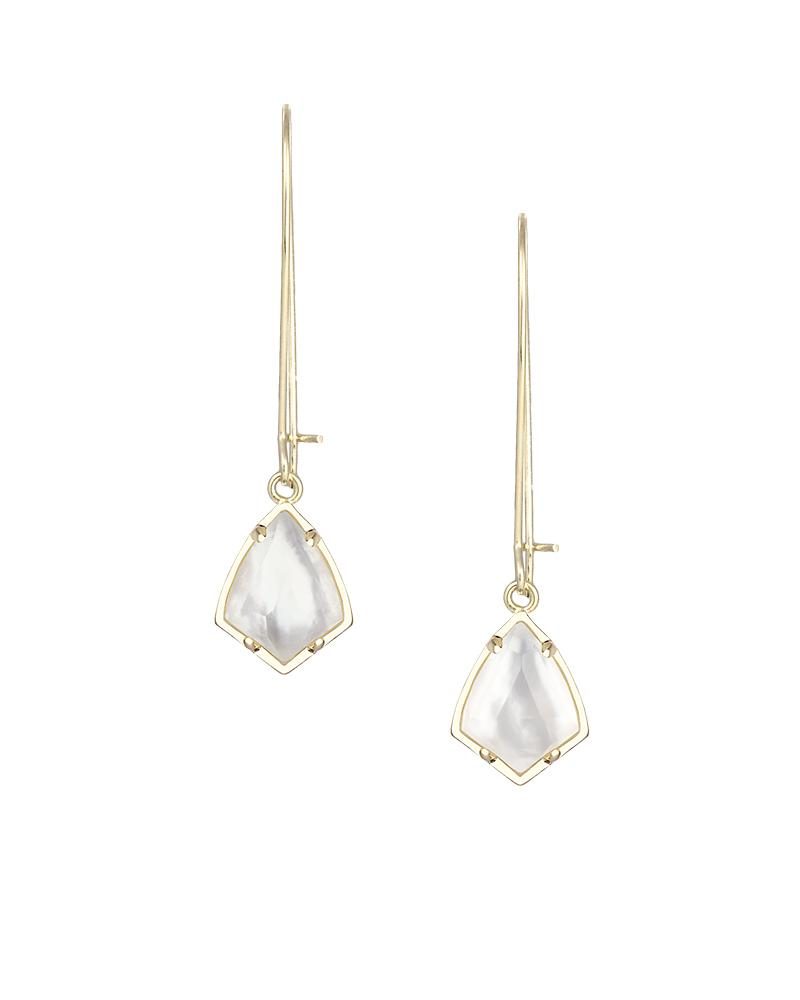 Carinne Earrings in Suspended Ivory Pearl
