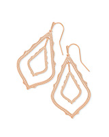 Simon Drop Earrings in Rose Gold