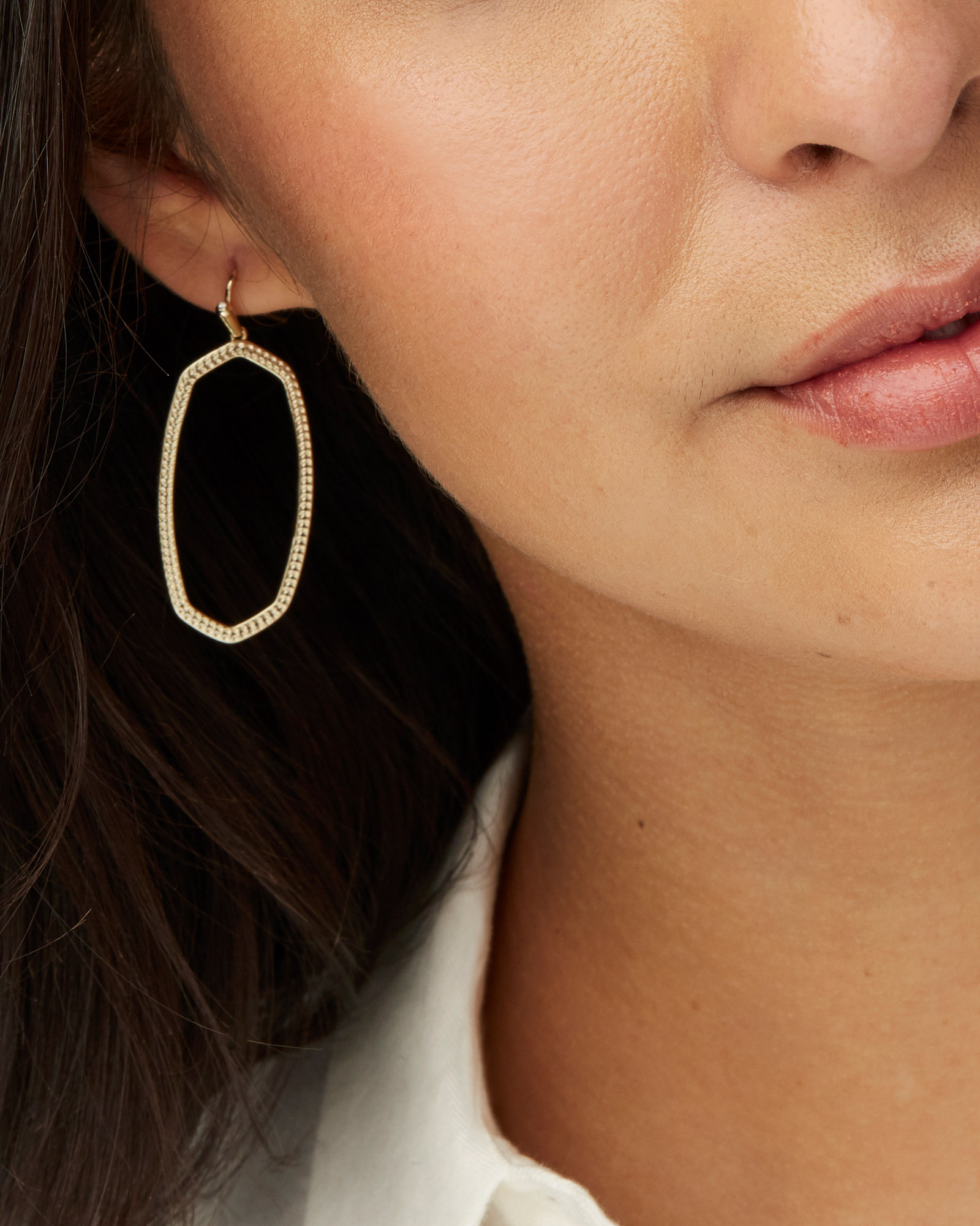Elle Open Frame Drop Earrings