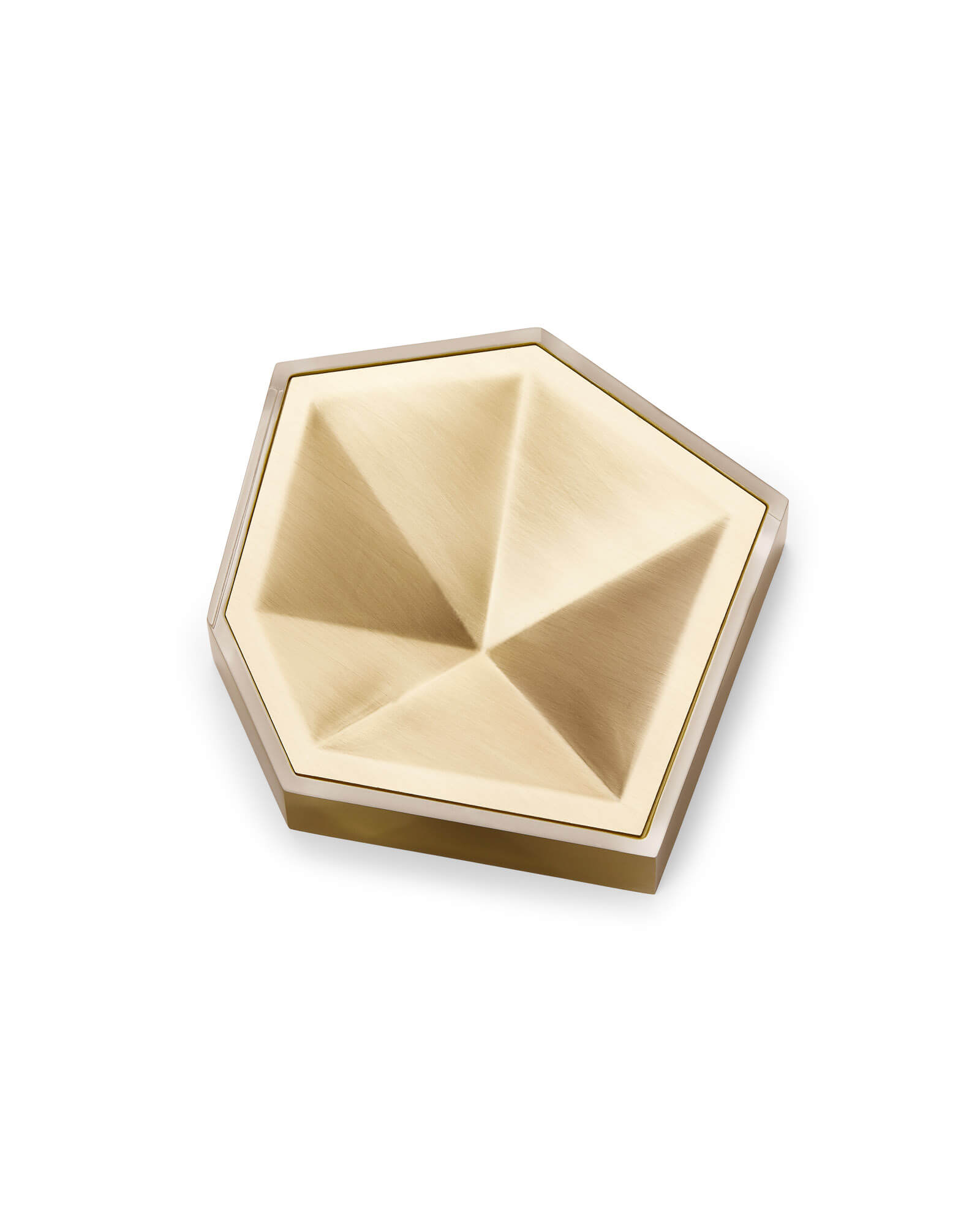 Faceted Ring Dish in Brass
