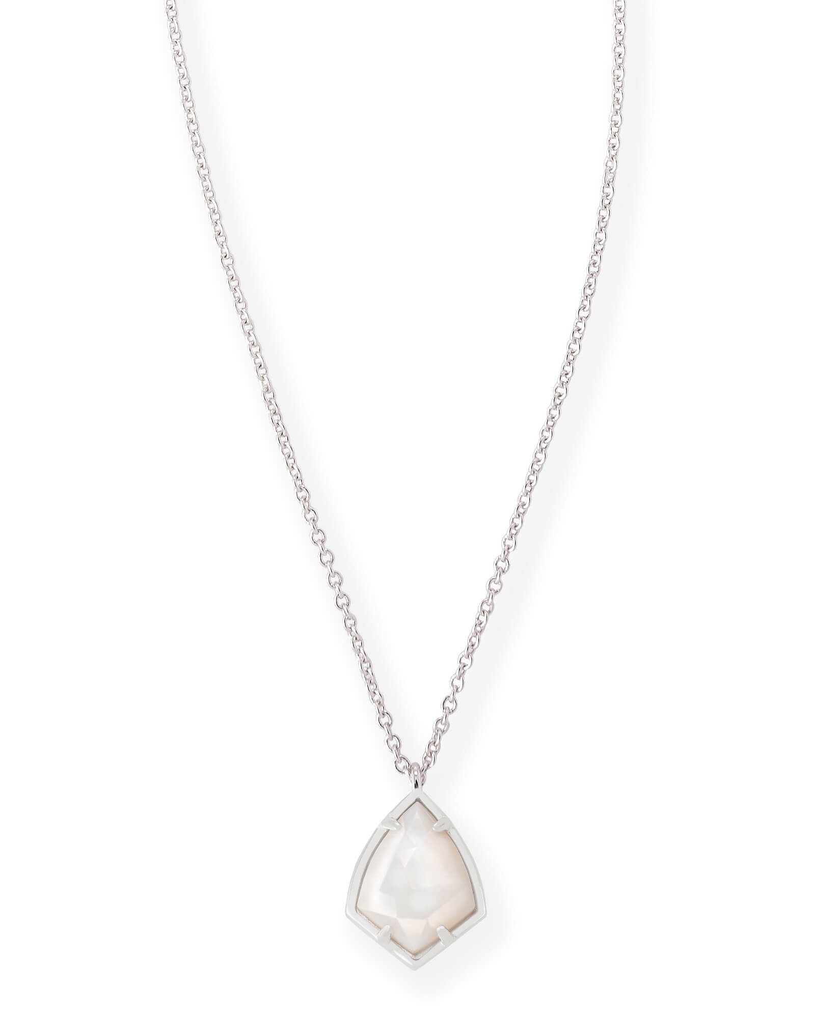 Cory silver pendant necklace in white pearl kendra scott cory silver pendant necklace in white pearl aloadofball Gallery