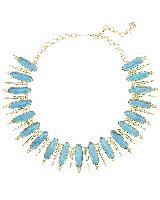 Gwendolyn Statement Necklace in London Blue Illusion
