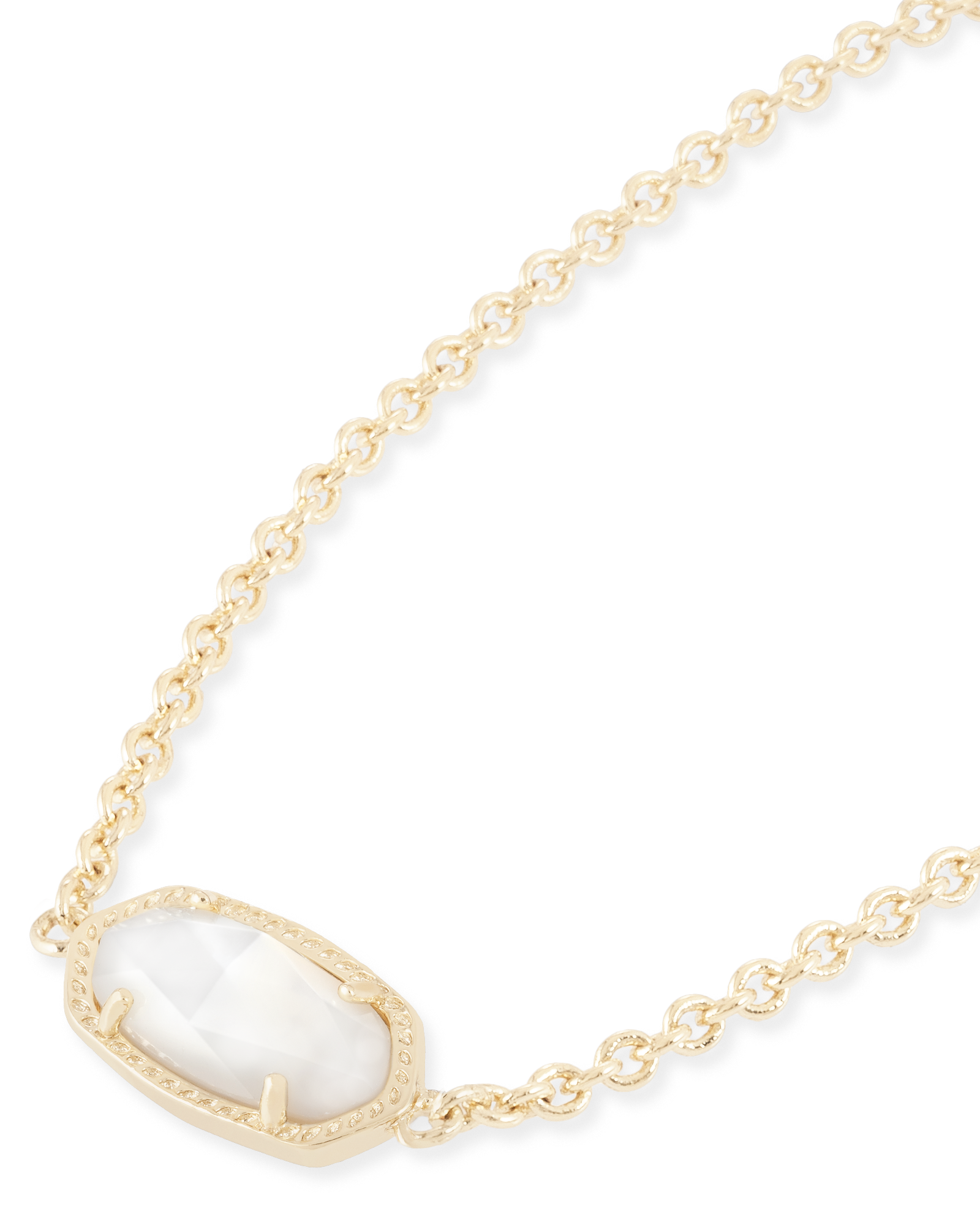 Elaina Adjustable Chain Bracelet in White Pearl