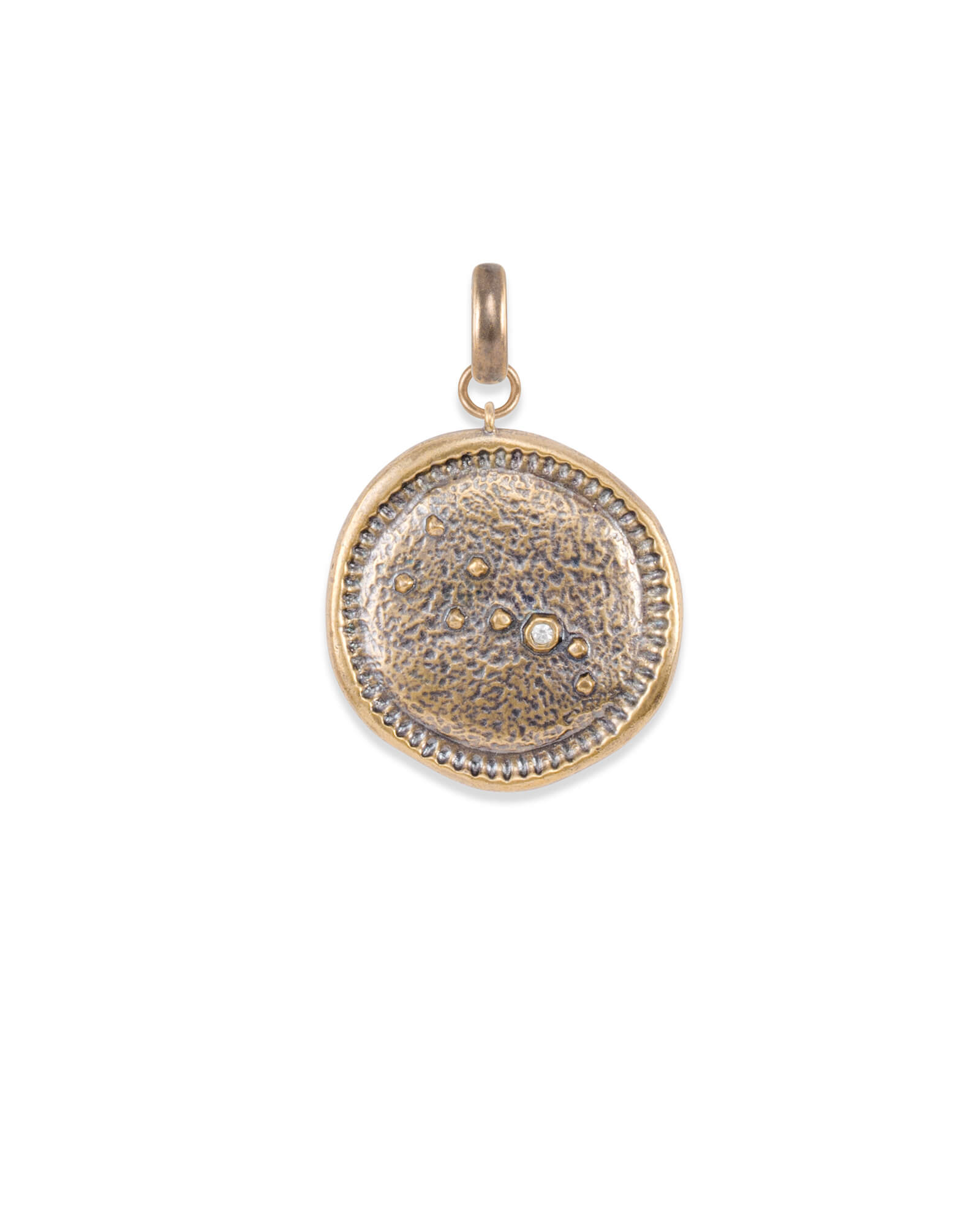 Taurus Coin Charm in Vintage Gold