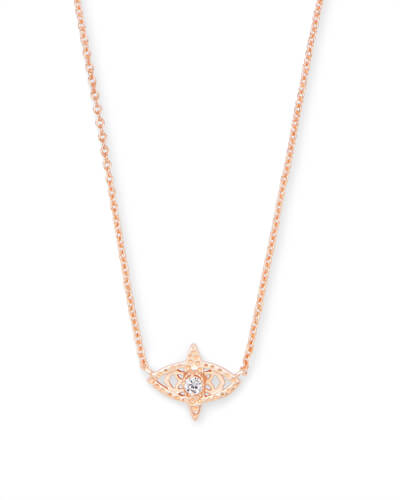 Caleb Pendant Necklace in Rose Gold