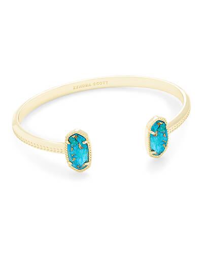 0ff4c2d97a13e Ellie Gold Stud Earrings in Blue Turquoise   Kendra Scott