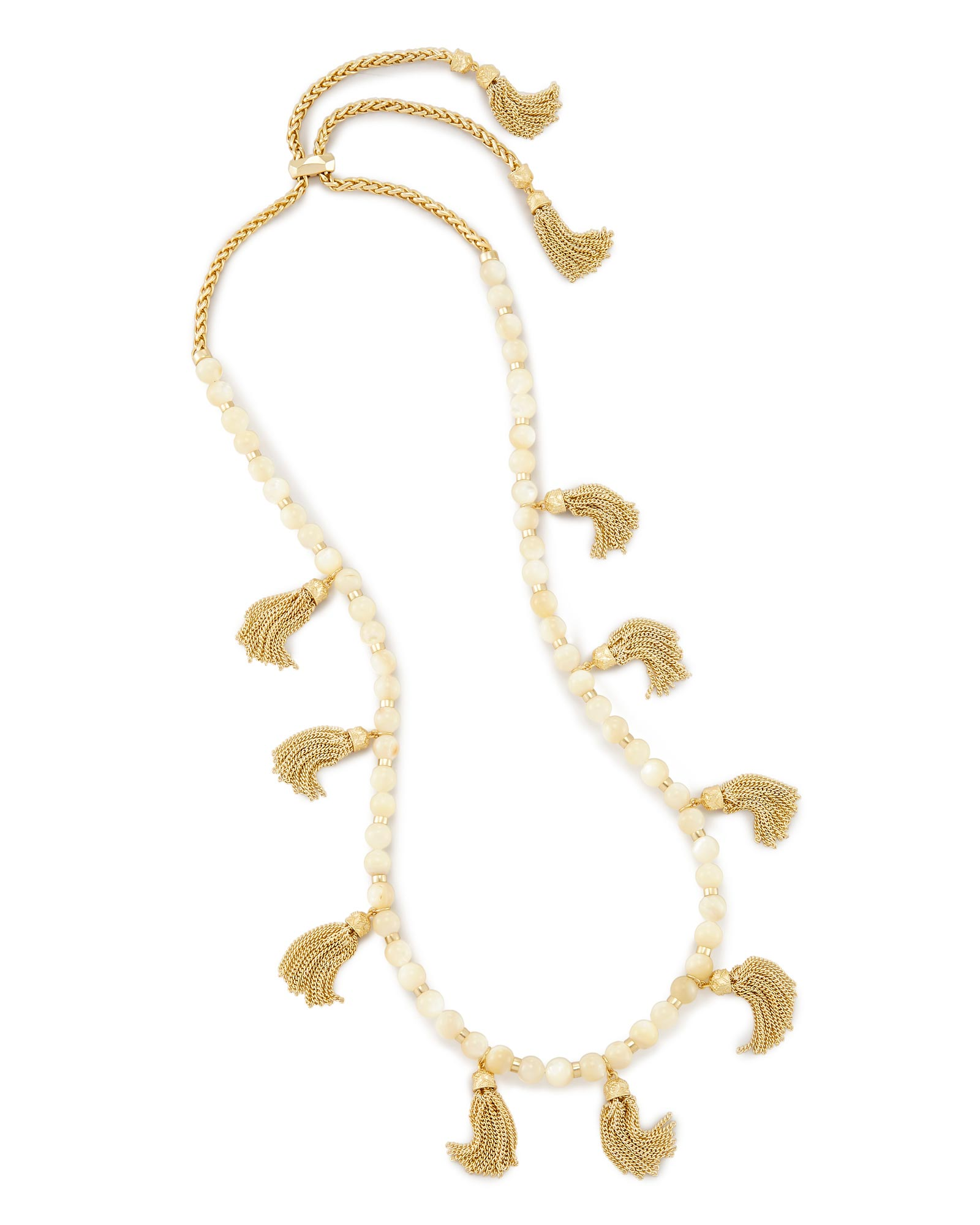 Vanina Long Necklace in Ivory Pearl