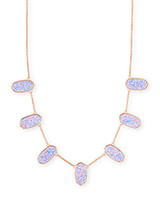 Meadow Rose Gold Collar Necklace in Lavender Kyocera Opal