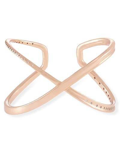 Stella Cuff Bracelet in Rose Gold