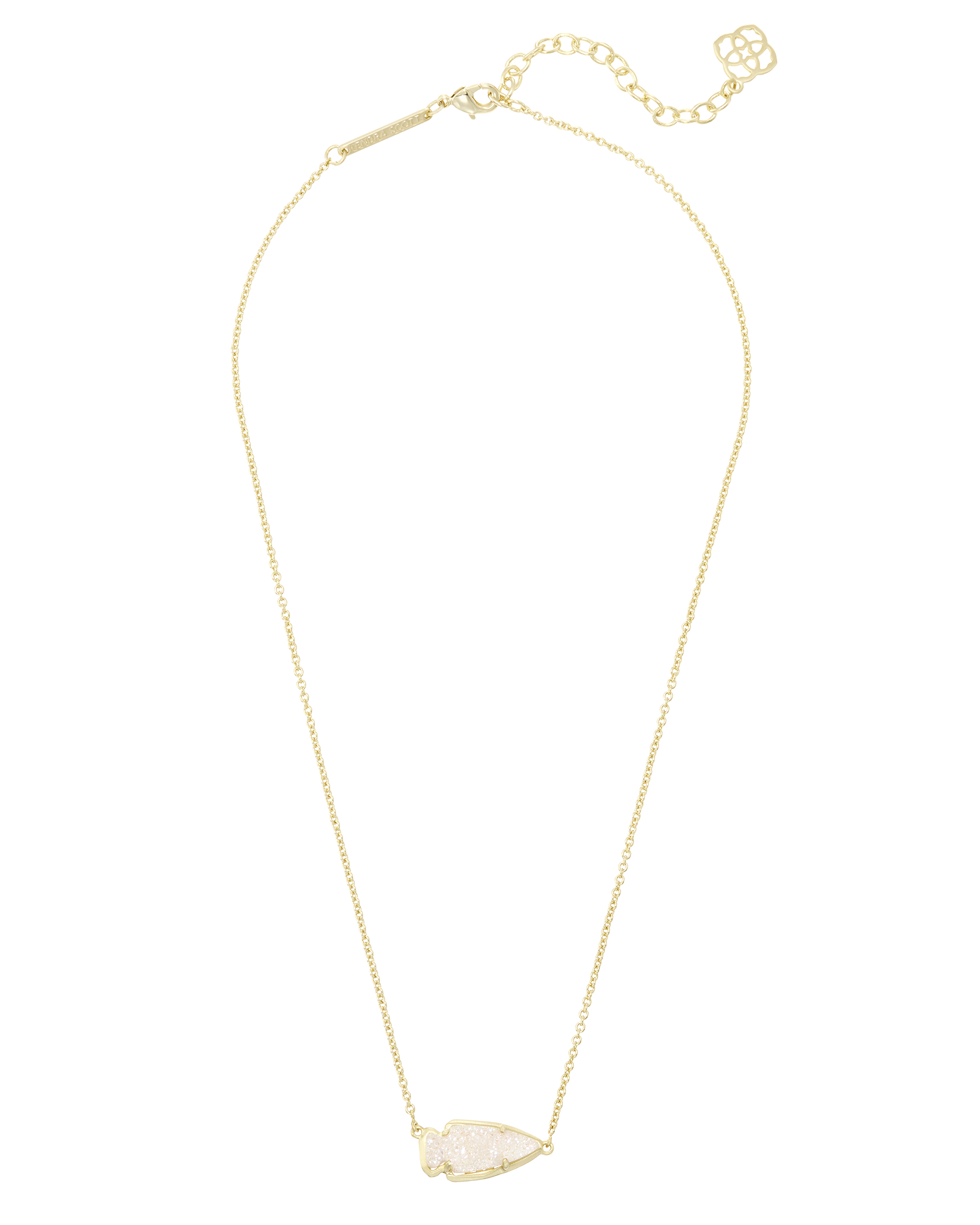 Kasey Arrowhead Pendant Necklace in Gold