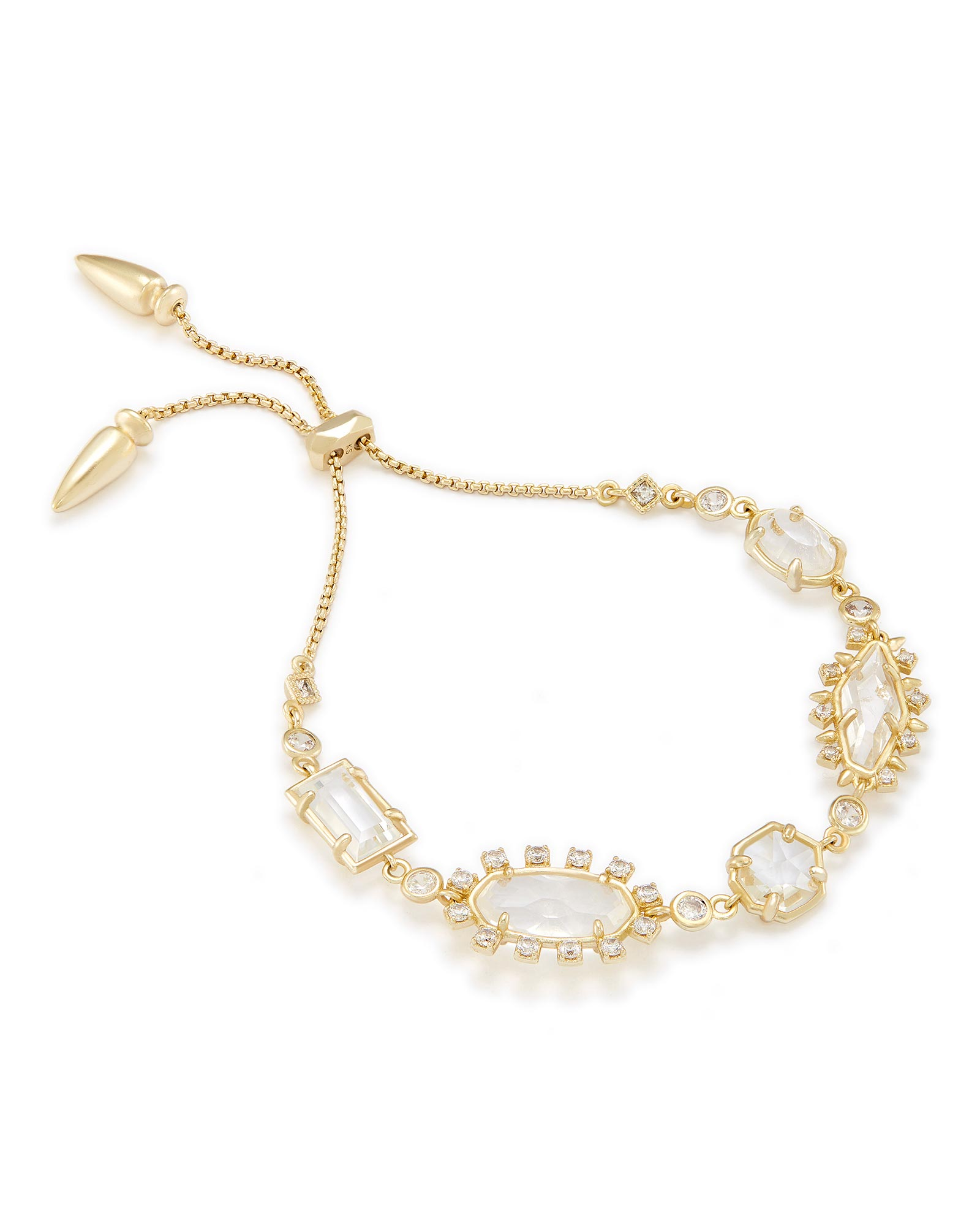 Alicia Adjustable Chain Bracelet in Gold