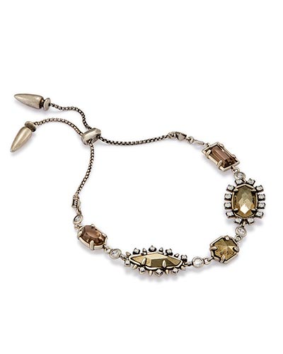Alicia Adjustable Chain Bracelet in Antique Silver