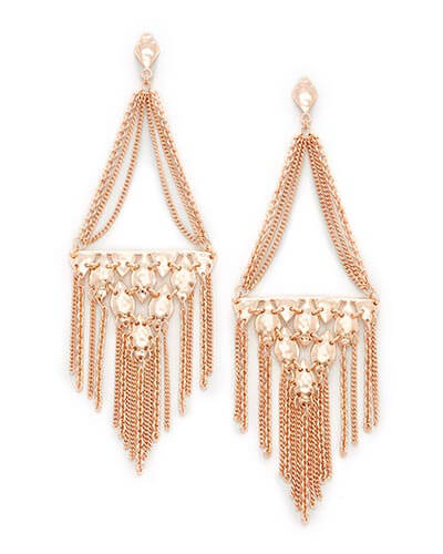 Mandy Statement Earrings in Rose Gold