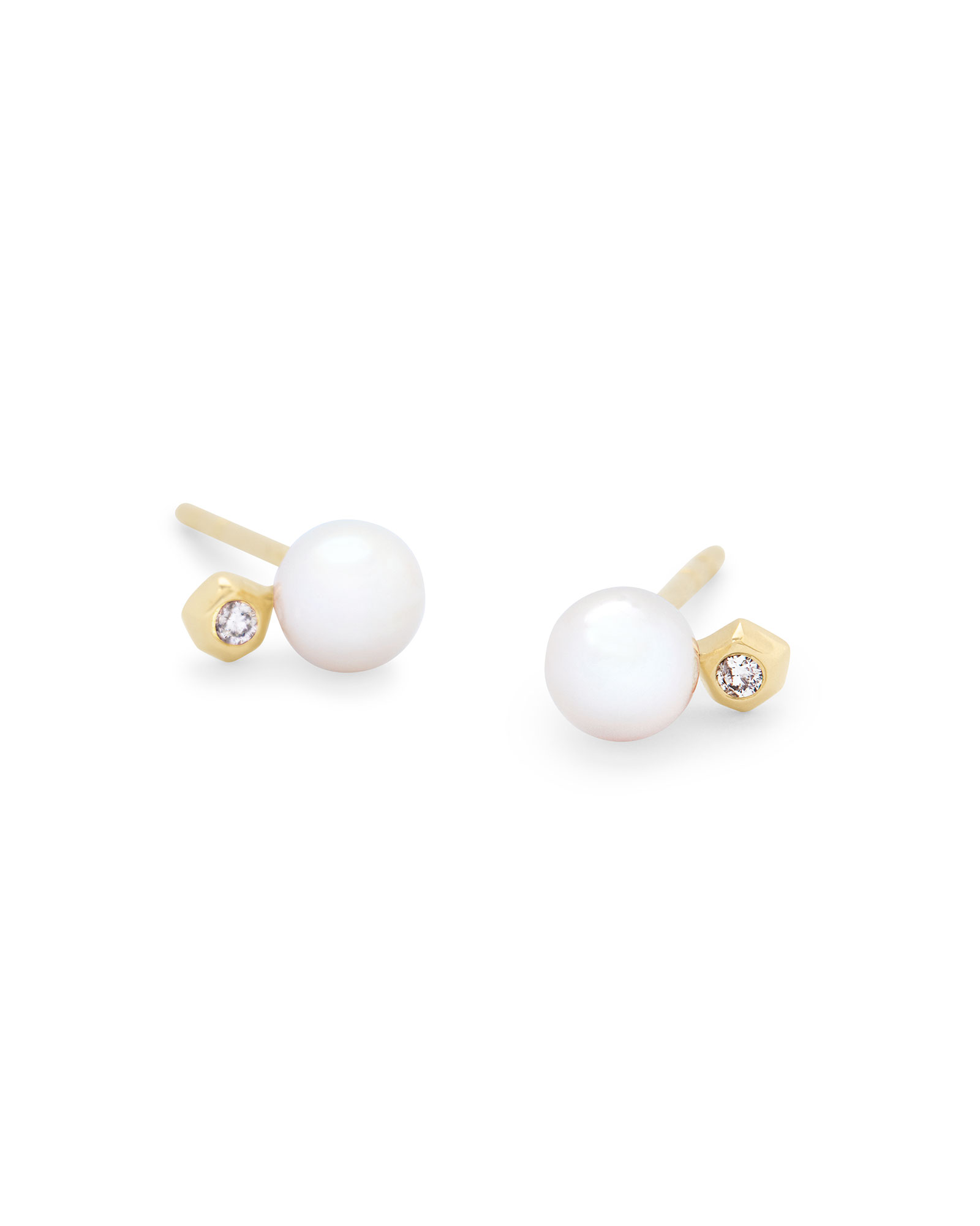 Cathleen 14k Yellow Gold Small Stud Earrings