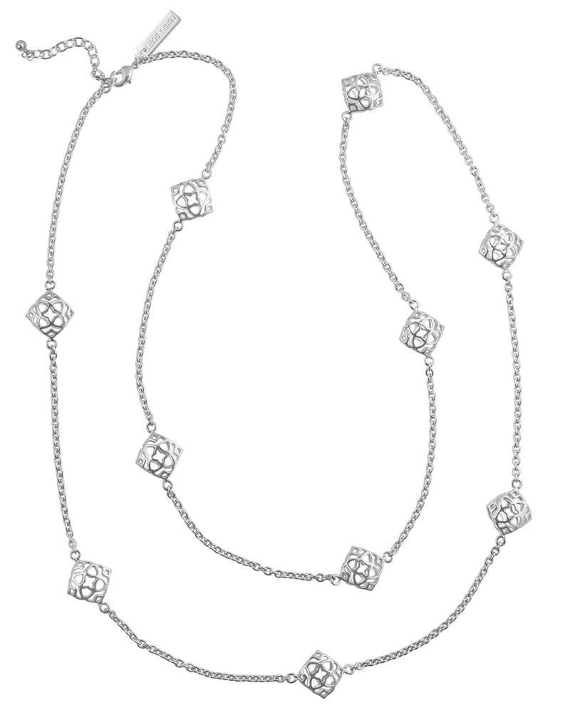 Nemera Long Necklace in Silver