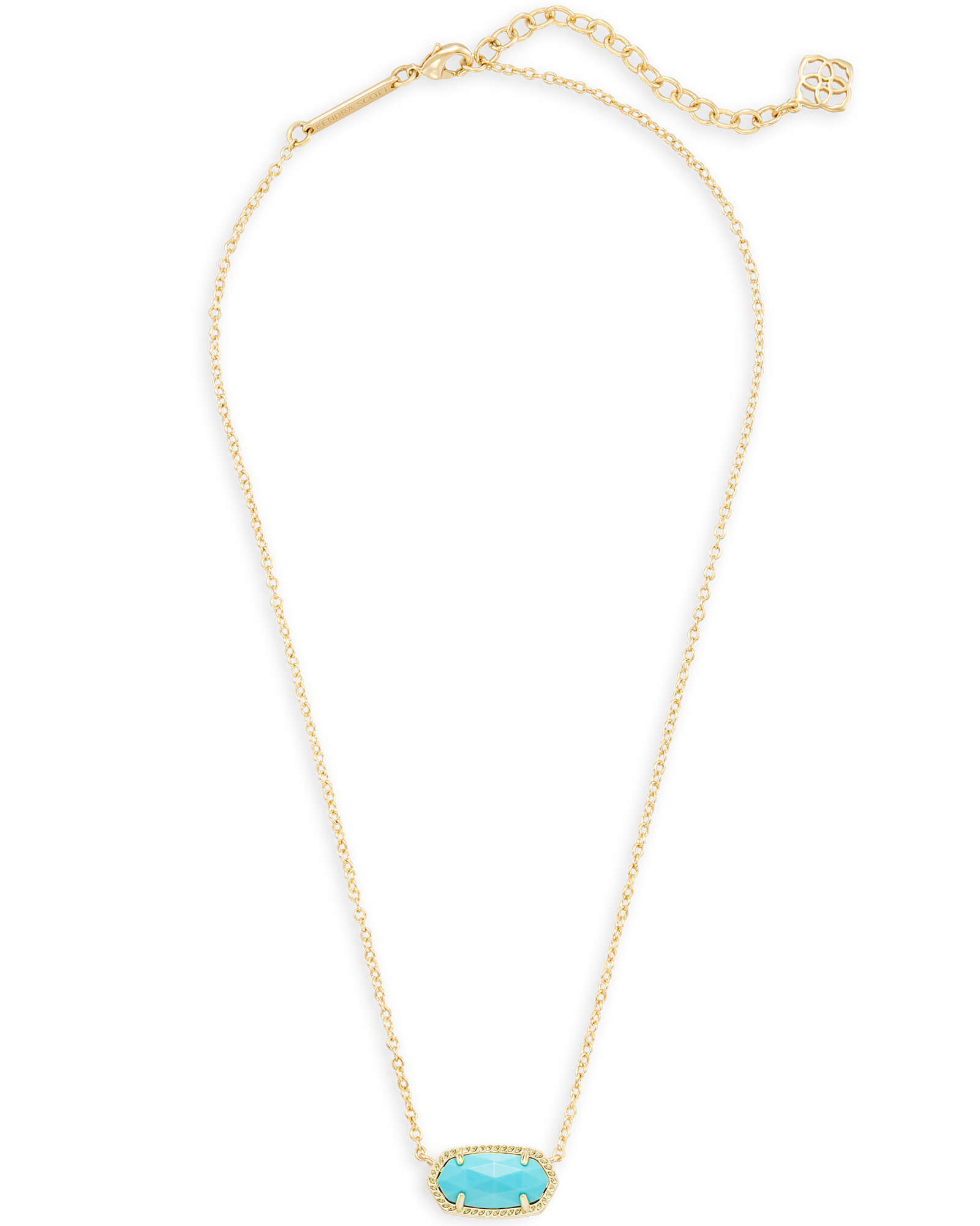 4094fcb95f6 Elisa Gold Pendant Necklace in Blue Turquoise | Kendra Scott