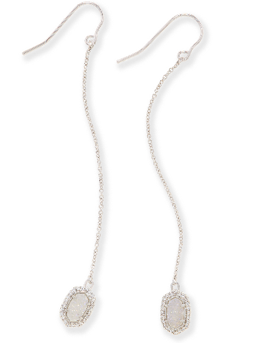 Caden Drop Earrings in Silver