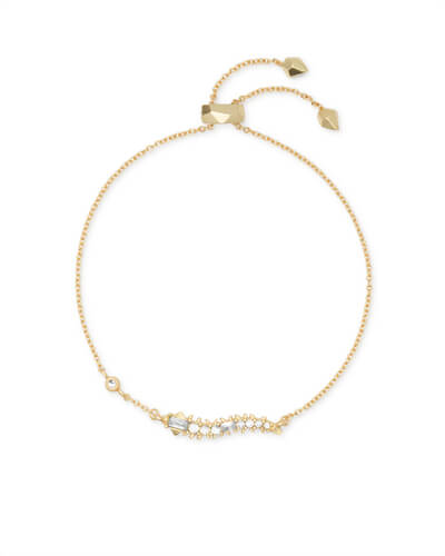 Marianne Gold Bracelet in White CZ
