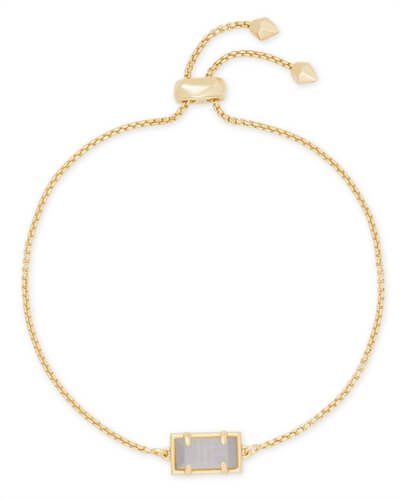 Phillipa Gold Chain Bracelet in Slate Cats Eye
