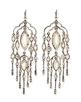 Emma Shoulder Duster Earrings in Antique Silver