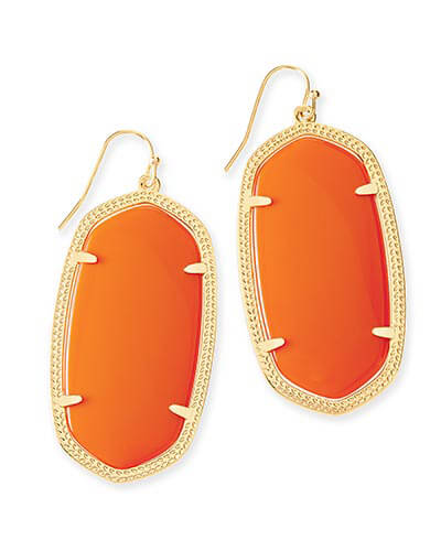 Danielle Earrings in Orange