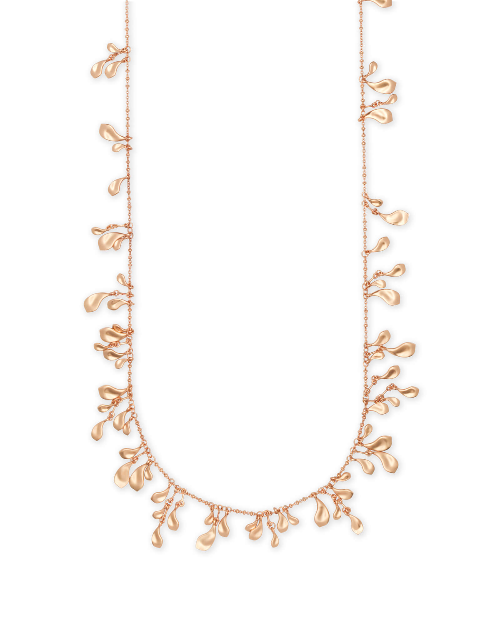 Bella Long Necklace in Rose Gold