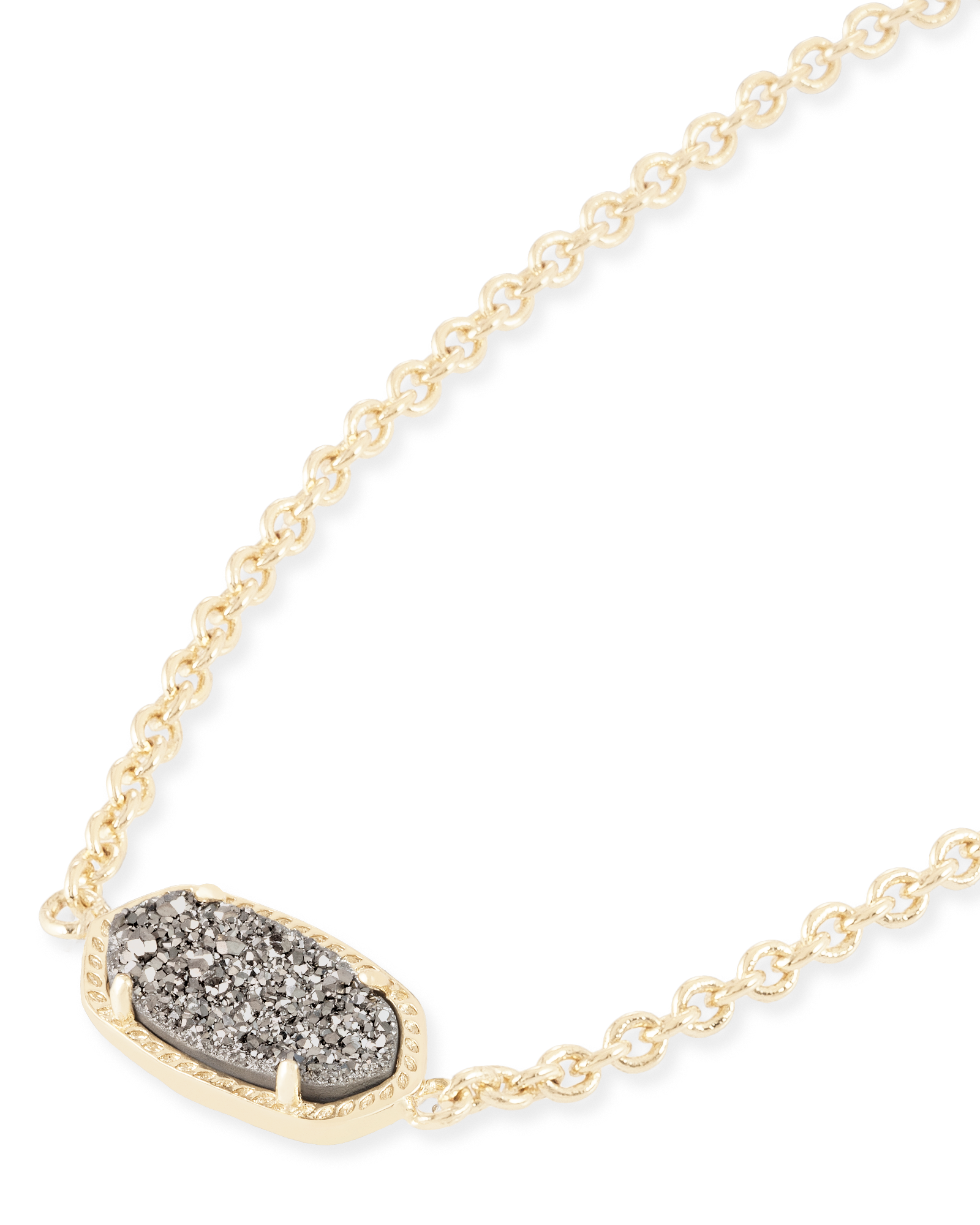 Elaina Gold Adjustable Chain Bracelet in Platinum Drusy