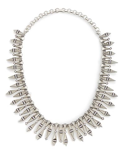 Cici Statement Necklace in Antique Silver