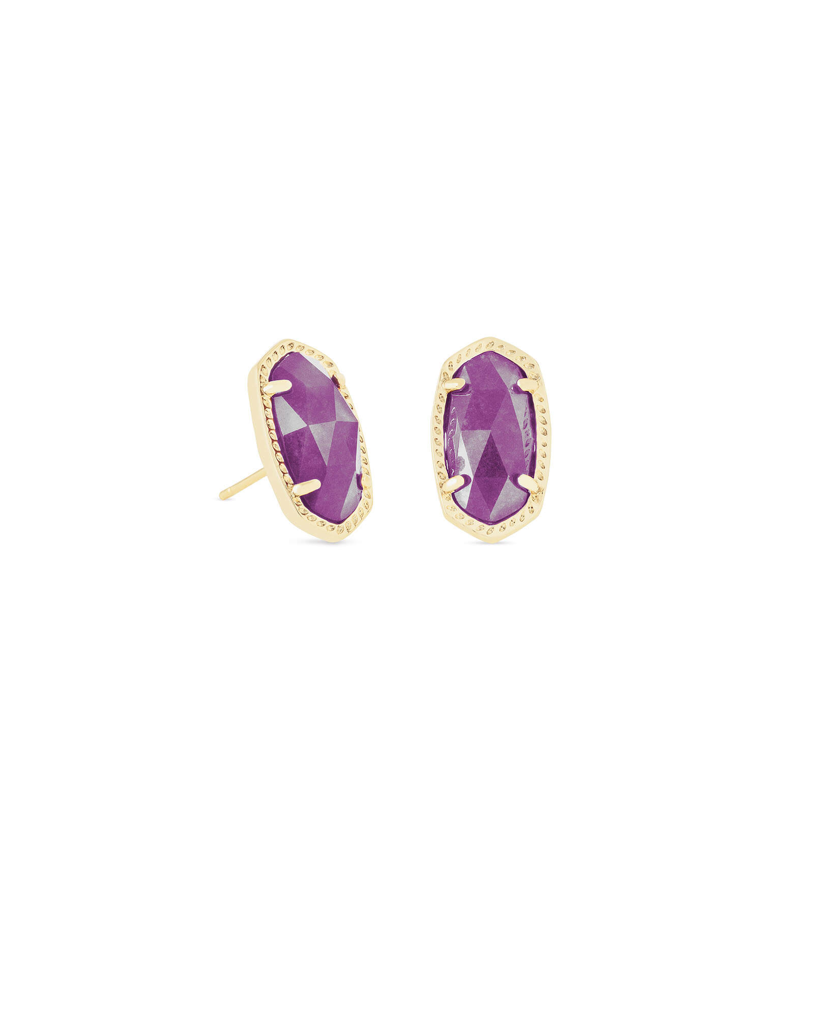 Ellie Stud Earrings In Purple Jade
