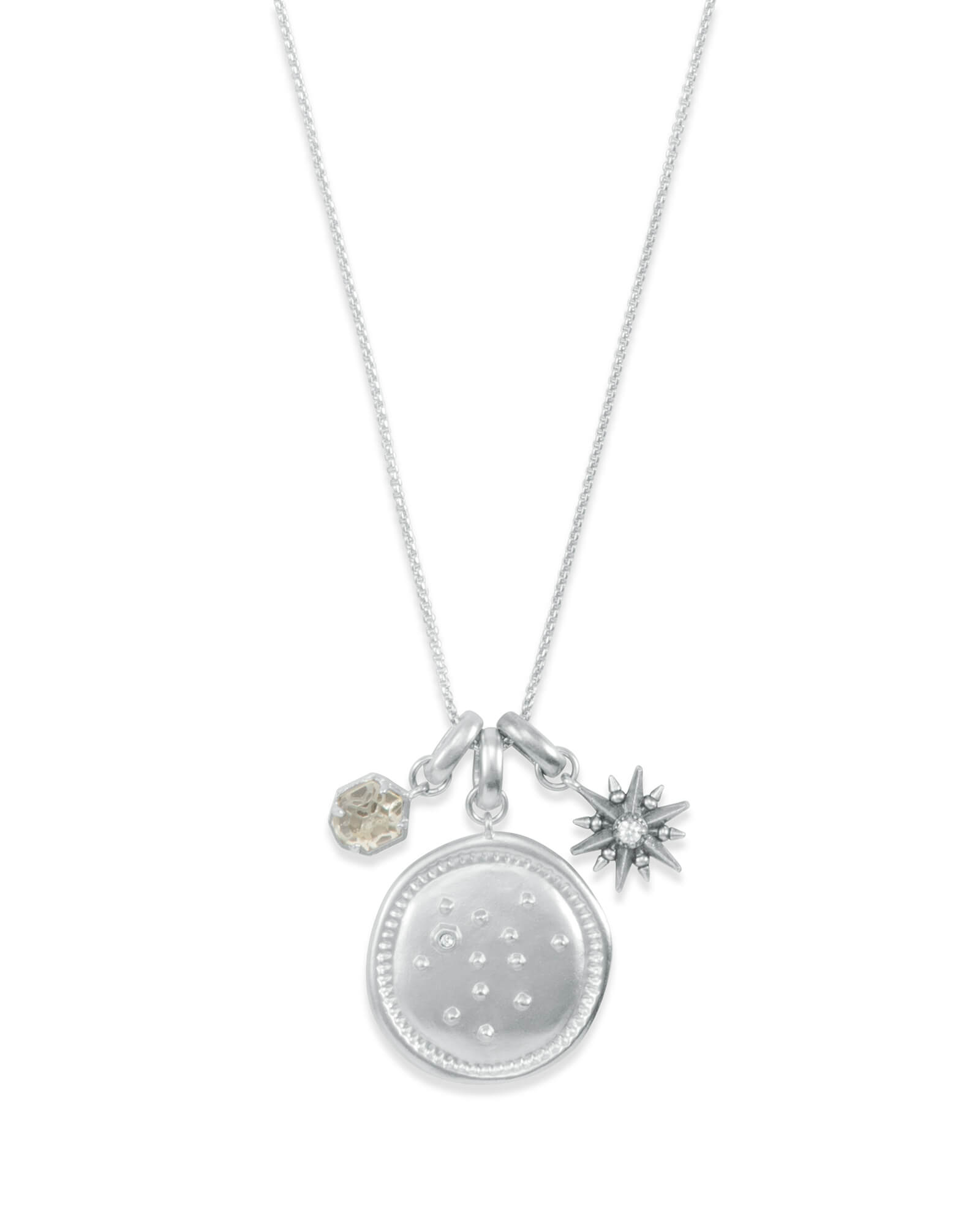 November Sagittarius Charm Necklace Set in Silver | Kendra Scott