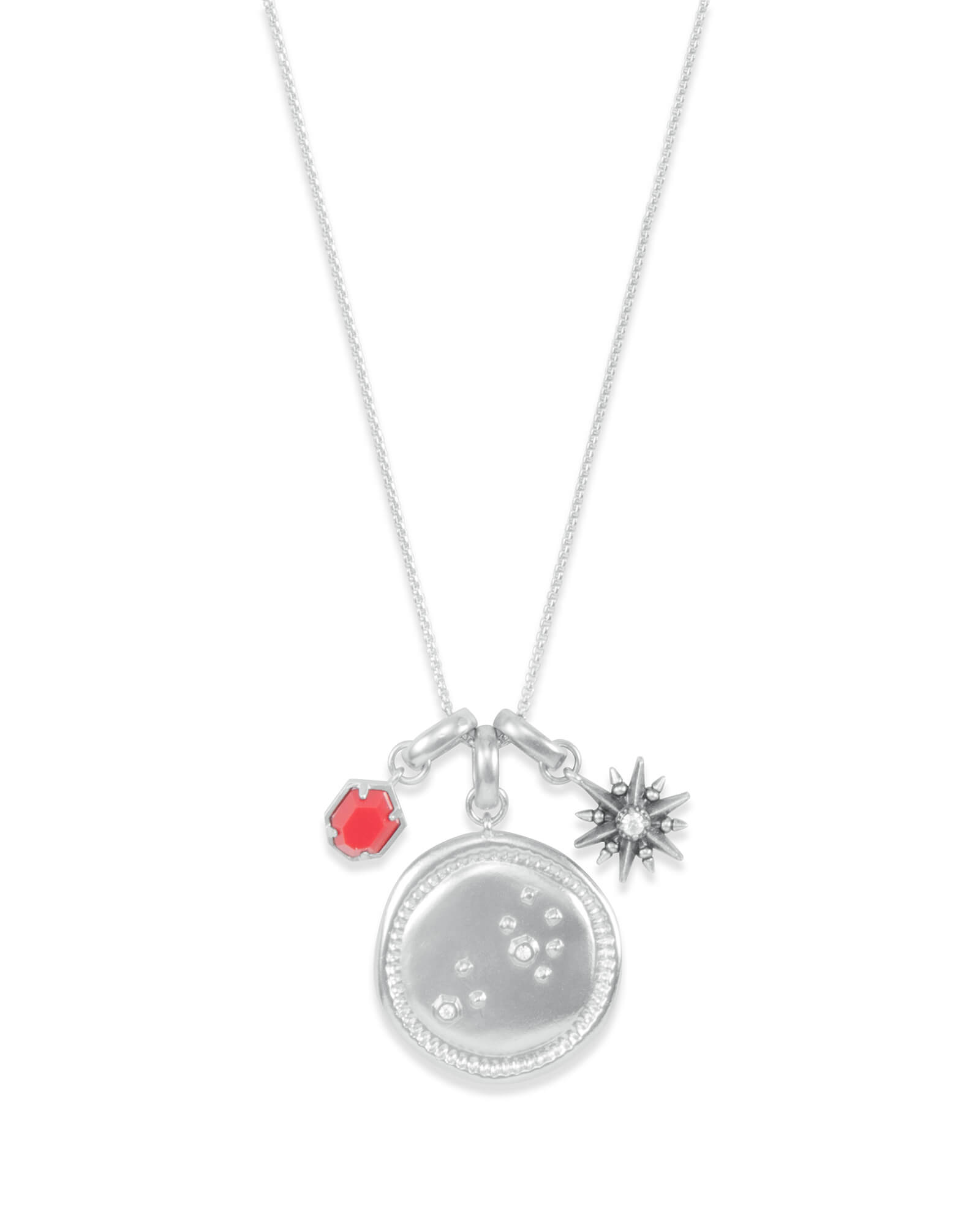 July Leo Charm Necklace Set in Silver
