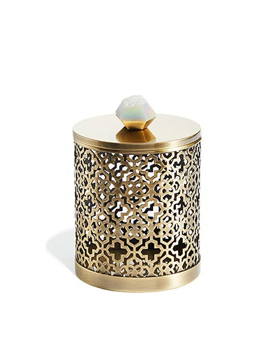 Filigree Canister in Iridescent Drusy