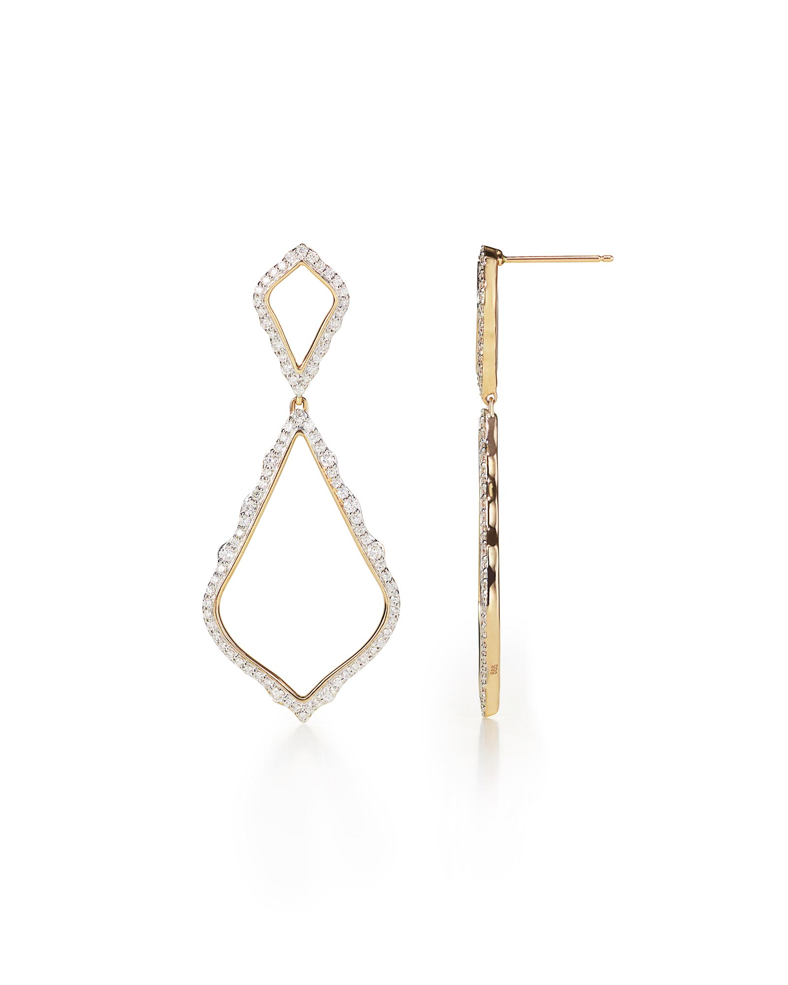 Alexa Pavé Diamond Statement Earrings
