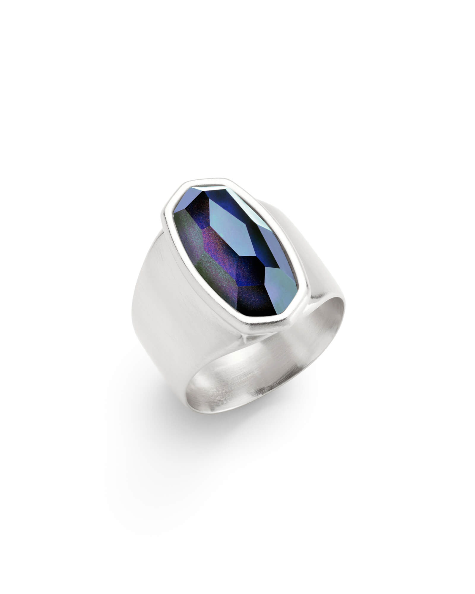 Leah Mood Stone Ring in Silver