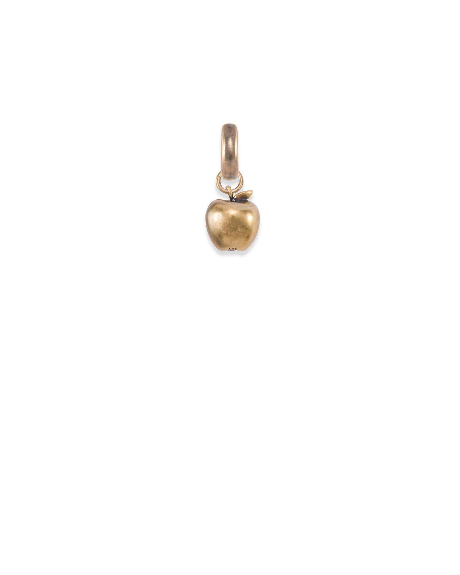 New York Apple Charm in Vintage Gold