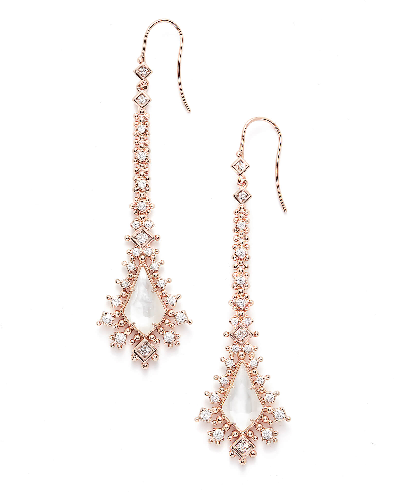 db4dfcfe2 Reimer Statement Earrings in Rose Gold   Kendra Scott Bridal